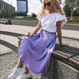 Bloggers Favorite Zara Pleated Skirt